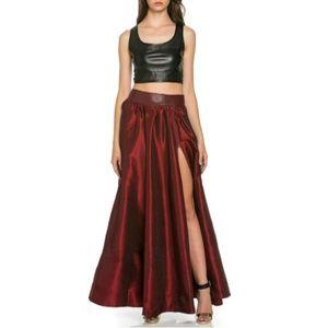 Wine Maxi Skirt